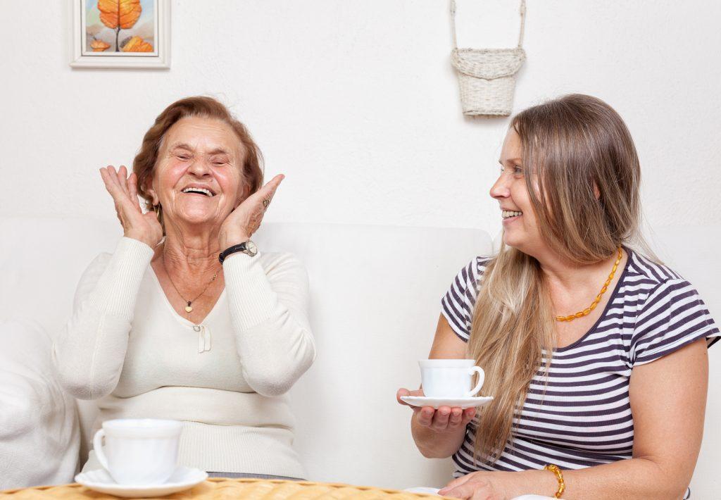 Carer companionship cup of tea